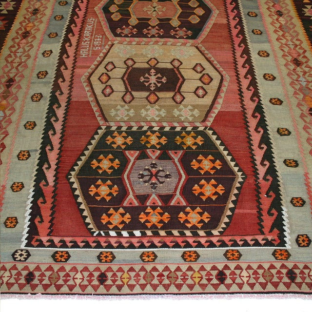 "Vintage Turkish Kilim Rug - 7' X 13'3"" - Image 2 of 8"