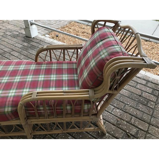 Vintage Wicker & Rattan Chaise - Image 3 of 7