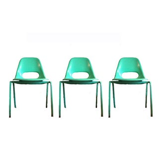 Vintage Green Chairs Set of 3
