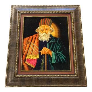 Fine Art Handmade Persian Tabriz Rug Framed