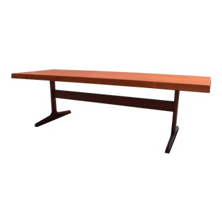Vintage Danish Mid Century Modern Large Teak Coffee Table