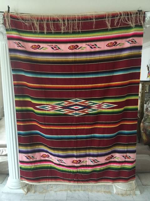 Vintage mexican blanket good