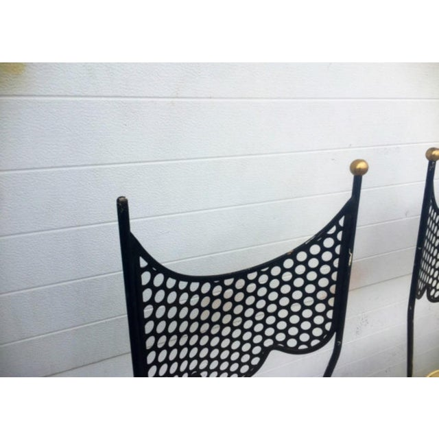 Vintage High Back Metal Chairs - Set of 4 - Image 6 of 6
