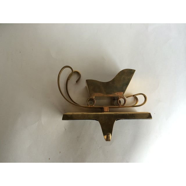 Vintage Brass Stocking Holder Sleigh - Image 4 of 6