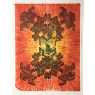 """""""Cubal Fission"""" 1979 Abstract Original Lithograph"""