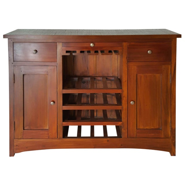 Mahogany Wood Bar Chest - Image 1 of 6