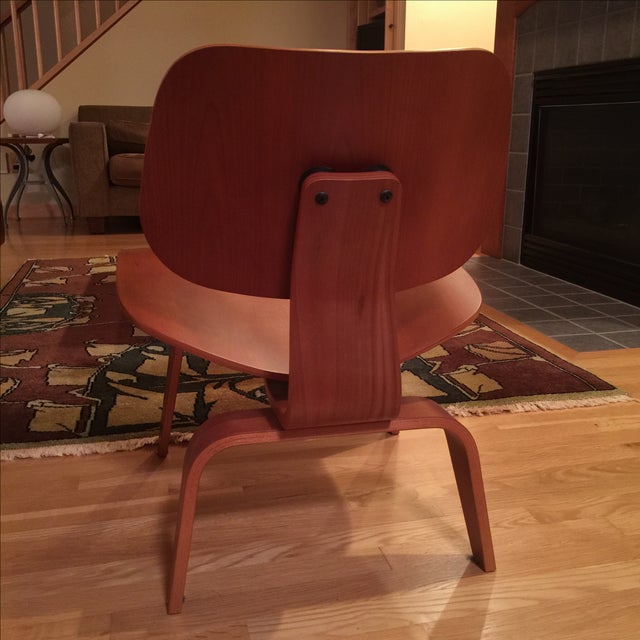 Eames Cherry Plywood Lounge Chair - Image 6 of 9