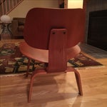 Image of Eames Cherry Plywood Lounge Chair