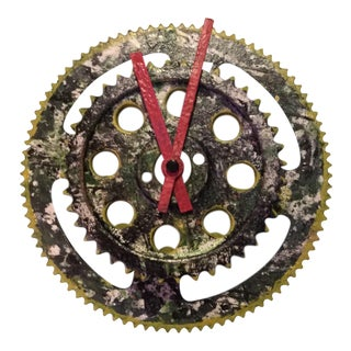 Sprocket Wall Clock Folk Artwork