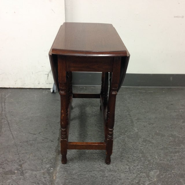 Vintage Convertible Occasional Table - Image 6 of 10