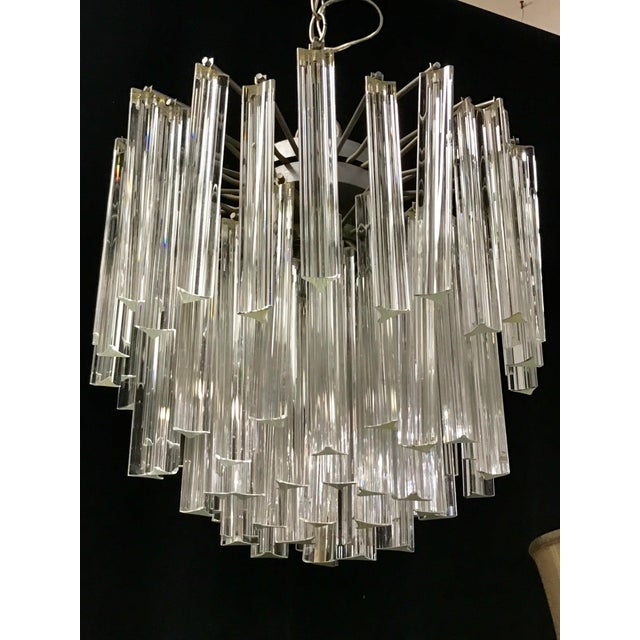 Venini Crystal Chandeliers - A Pair - Image 6 of 11