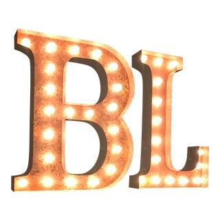 Vintage B & L Marquee Lights - A Pair