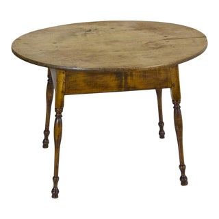 Figured Maple Oval Top Tavern Table with Splayed Legs