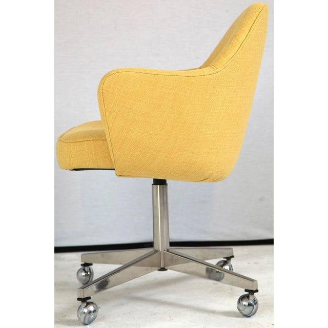 Knoll Desk Chair in Yellow Microfiber - Image 4 of 9