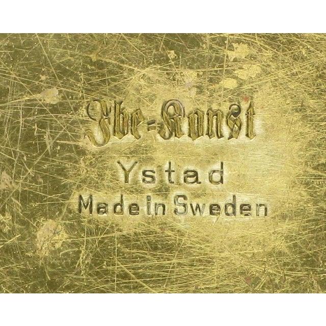 Four Ystad Of Sweden Brass Open Leaf Candlesticks - Image 4 of 4
