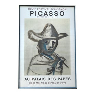 1973 Original Framed Exhibition Picasso Poster