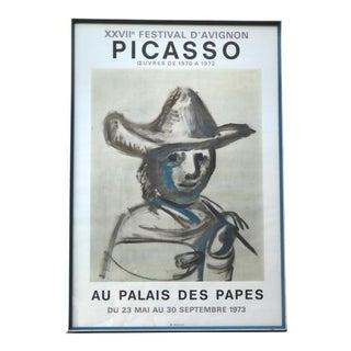 1973 Original Framed Exhibition Picasso Poster