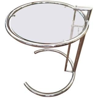 Eileen Gray Chrome Adjustable Side Table