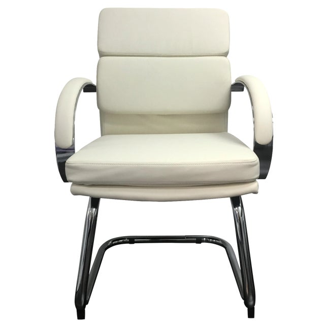 Modern Office Chairs in Vanilla - Set of 10 - Image 1 of 6