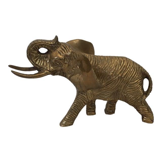 Image of Vintage Brass Elephant Figurine