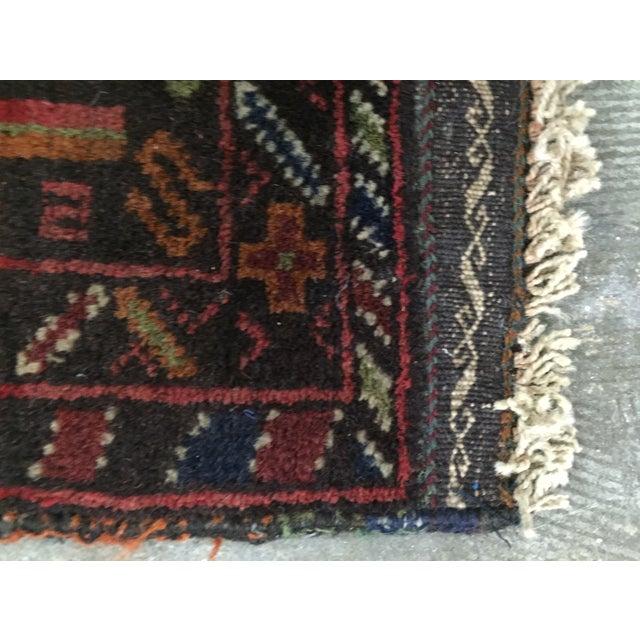 Vintage Balluchi Persian Rug - 1'8 x 1'11 - Image 8 of 10
