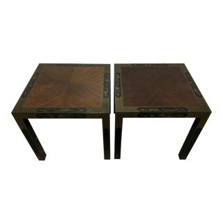 Drexel Asian Style Side Tables - A Pair
