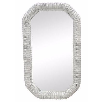 Light Gray Rattan Floor Mirror - Image 1 of 6