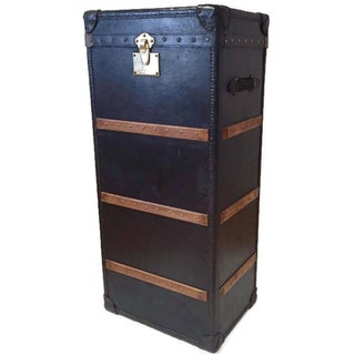 Vintage Tall Leather Trunk