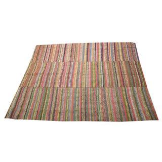 Vintage Turkish Flatweave Rug - 6′5″ × 8′4″