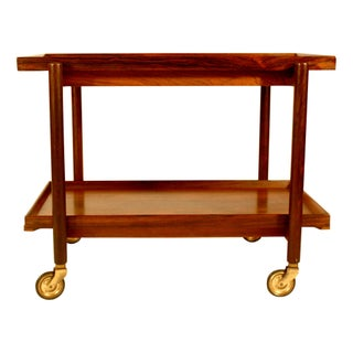 Poul Hundevad Vamdrup Danish Rosewood Bar Cart