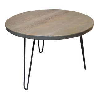 Distressed Gray Reclaimed Wood Side Table