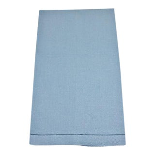 Vintage Blue Linen Hand Towel