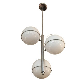 Italian 3-Globe Chrome Chandelier