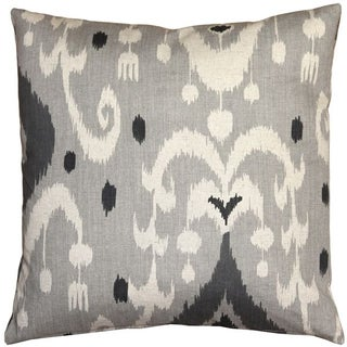 Pillow Decor - Indah Ikat Gray 20x20 Throw Pillow