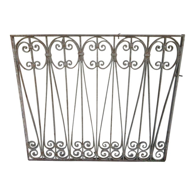 Antique Victorian Iron Gate Window Garden Fence