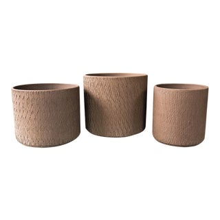 Gainey Ceramics Sgraffito Planters - Set of 3
