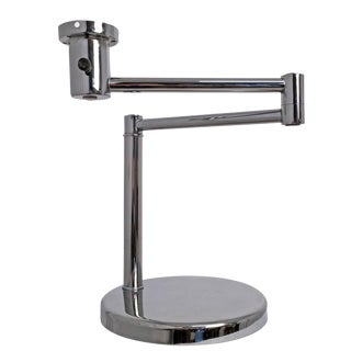 Nessen Chrome Swing Arm Table Lamp