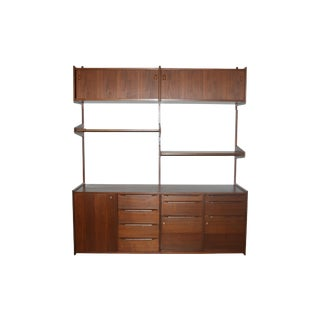 Walnut Shelving/Wall Unit