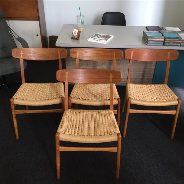 Hans Wegner CH-23 Dining Chairs - Set of 4 - Image 2 of 9