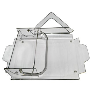 1960s Lucite Tray with Dips & Napkins Dispenser