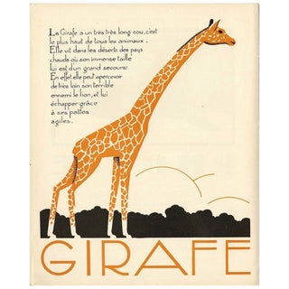 1930s French Art Deco Giraffe Giclée Print