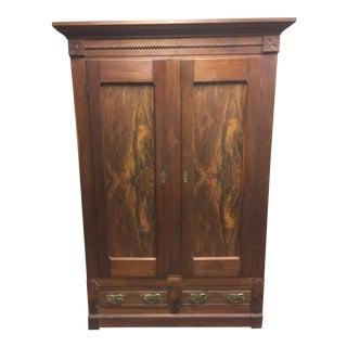 Late 1800's Solid Mahogany Wardrobe