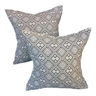 Tribal Pattern Pillows - Pair