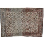 "Image of Antique Persian Distressed Rug - 4'2"" X 6'3"""
