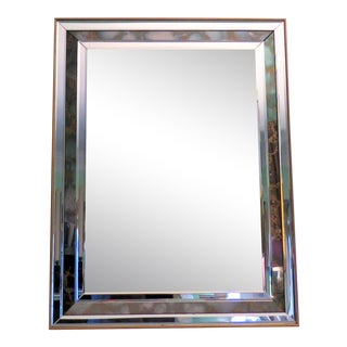 Monumental 1970s Beveled Mirror