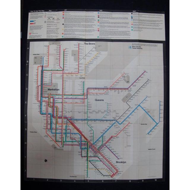 1974 massimo vignelli subway map chairish