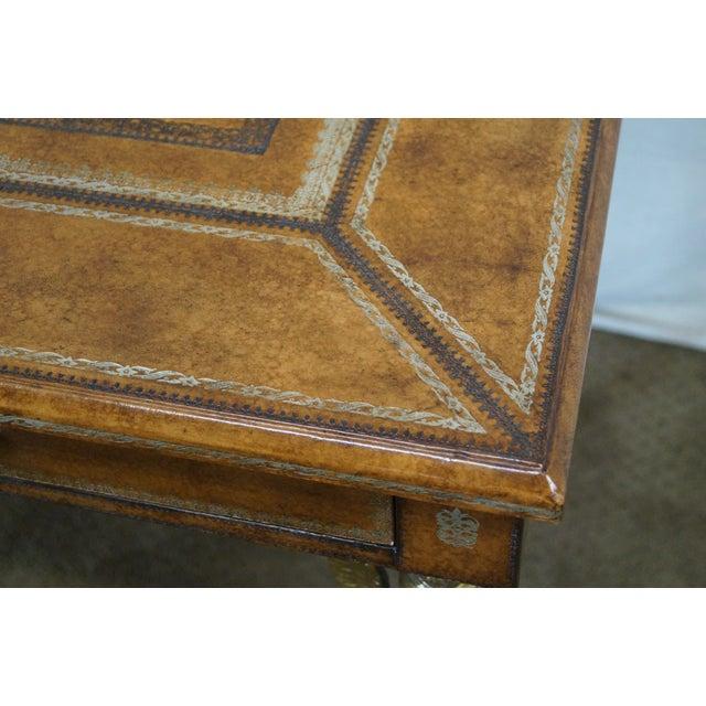 Image of Maitland Smith French Empire Tooled Leather Desk