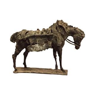 Brutalist Metal Work Horse Tabletop Sculpture