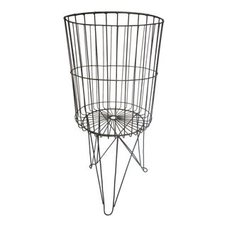 Industrial Metal Basket & Stand