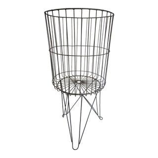 Industrial Metal Basket & Stand
